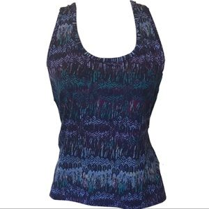 3/$15 mossimo tribal print tank w/ open lace back